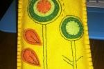 Porta cellulare fiori pannolenci