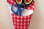 Porta forbici imbottito per tenere sempre in ordine