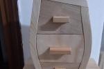 Porta gioie in legno fatto a mano con cassettini