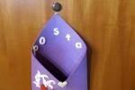 Porta posta in feltro viola