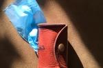 Porta sacchetti da guinzaglio in cuoio