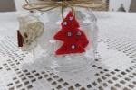 Porta spezie natalizio in vetro