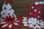 Portacandela natalizio creata a mano in gomma eva