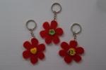Portachiavi fiore realizzati con il feltro