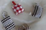 Portachiave in tessuto imbottito con personalizzazioni
