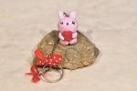 Portachiavi coniglietto rosa