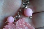 Portachiavi Foglioline rosa