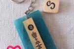 Portachiavi in resina e legno personalizzati con codice Spotify