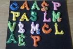 Portachiavi lettere in pannolenci