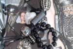 Portachiavi nero e argento indiano