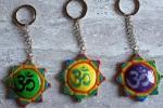 Portachiavi o ciondolo Mandala con simbolo OM