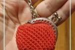 Portachiavi porta monete mignon color rosso