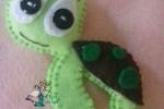 Portachiavi tartarughe in pannolenci