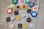 Portachiavi vari in feltro a forma di dolcetti