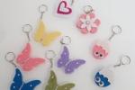 Portachiavi farfalle gadget fine festa