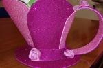 Portacialde in gomma eva glitterata rosa
