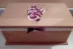 Cofanetti portagioie di legno decorati in acrilico