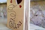 Portagioie il legno personalizzabile style Libro