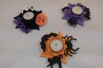 Portalumini in feltro con decorazioni di crepla a tema Halloween