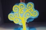 Portaprofumatore in gomma crepla albero della vita