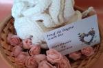 Pouf in cotone bianco per il bagno, un regalo per lei