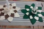 Preparativi per tavola di Natale Centrotavola in feltro