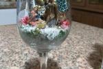 Presepe in calice di vetro