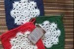 Presine all'uncinetto stile Natalizio - Fiocco di neve