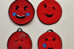 "Presine uncinetto crochet (n.2) ""Emoji Smiley"""