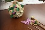 Profumatore ambiente decorato con fiori in gomma crepla