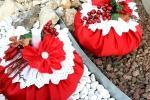 Puff rosso natalizio