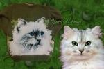 Pullover lana con gatto bimba 5/6 anni