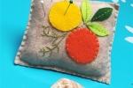 Puntaspilli agrumi in pannolenci