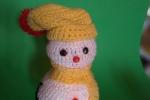 Pupazzo di neve decorato in lana