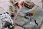 Pupazzo emozioni colori scatola dei colori idea regalo