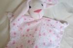 Pupazzo per neonato realizzato a mano con tessuto