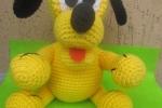 Amigurumi Pluto realizzato interamente a mano