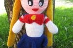 Amigurumi Sailor Moon realizzata interamente a mano