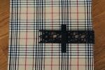 Quaderno rivestito in tessuto scozzese, stile Burberry