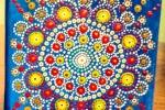 Quadretti di tela decorati con colori acrilici 15x15