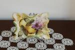 Quadretto pergamena decoupage pittorico immagini floreali e