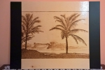 Quadro pirografato con palme
