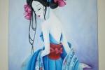 Quadro geisha acrilico