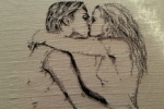 Quadro innamorati a punto croce