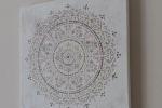 Quadro fantasia Mandala dipinto su tela