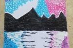"""Quadro """"Montagne nel cielo della notte"""""""