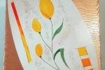 """Quadro """"Tulipani gialli"""", autrice Lisa Messina"""