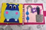 Quiet book, libro sensoriale montessoriano