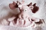 Renna con fiocco pupazzo decorazione natale fiocco nascita