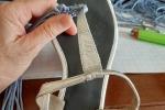 Rinnovo sandali datati o sciupati
